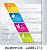 vector abstract infographic... | Shutterstock .eps vector #226887973