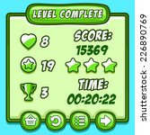 green game level complete icons ...