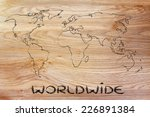 illustration with world map ... | Shutterstock . vector #226891384