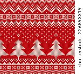 Winter Holiday Pattern On The...