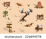wild west different objects... | Shutterstock .eps vector #226894978