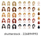 set of female hair style... | Shutterstock .eps vector #226894993