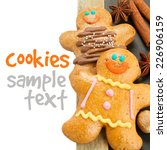 two   gingerbread man border ... | Shutterstock . vector #226906159