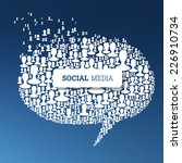 social media bubble speech... | Shutterstock .eps vector #226910734