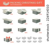 packing of cristmas gift... | Shutterstock .eps vector #226914010