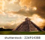 temple of kukulkan  pyramid in... | Shutterstock . vector #226914388