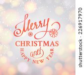 merry christmas text on bright... | Shutterstock .eps vector #226917970