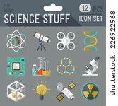science stuff icon set. flat... | Shutterstock .eps vector #226922968