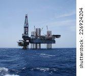 offshore jack up oil drilling...   Shutterstock . vector #226924204