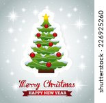 merry christmas graphic design  ... | Shutterstock .eps vector #226925260