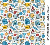 sticker school pattern.hat... | Shutterstock . vector #226940134