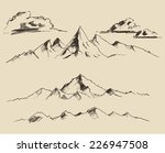 contours of the mountains... | Shutterstock .eps vector #226947508