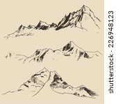 contours of the mountains... | Shutterstock .eps vector #226948123