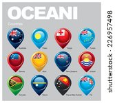 oceani countries   part one | Shutterstock .eps vector #226957498
