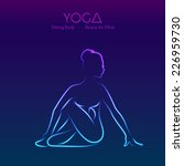 vector illustration of yoga... | Shutterstock .eps vector #226959730