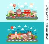 city summer street urban town... | Shutterstock .eps vector #226964074