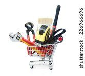 hand tools shopping on the... | Shutterstock . vector #226966696