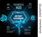 futuristic interface  hud  ... | Shutterstock .eps vector #226969720