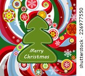 greeting card with christmas... | Shutterstock .eps vector #226977550