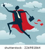 abstract businessman is a... | Shutterstock .eps vector #226981864