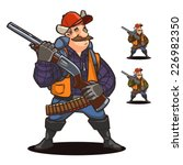 hunter. cartoon character   Shutterstock .eps vector #226982350