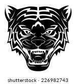 tiger head tattoo | Shutterstock . vector #226982743