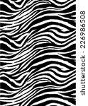 zebra stripes pattern.textile...   Shutterstock . vector #226986508