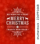 christmas greeting card light... | Shutterstock .eps vector #226991668