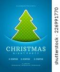 christmas party invitation...   Shutterstock .eps vector #226991770