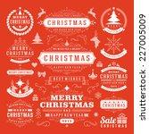 christmas decoration vector... | Shutterstock .eps vector #227005009