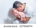 newborn baby sleeping on the... | Shutterstock . vector #227006074