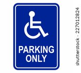 Disabled Person Parking Sign