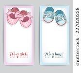 set of baby shower cards.  | Shutterstock .eps vector #227020228