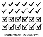 checkmark icons set