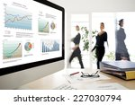 working people in the office | Shutterstock . vector #227030794