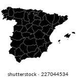 map of spain  | Shutterstock .eps vector #227044534