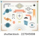 retro design elements with... | Shutterstock .eps vector #227045008
