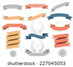 retro design elements with... | Shutterstock .eps vector #227045053