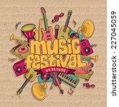 music festival. vector music... | Shutterstock .eps vector #227045059