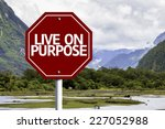 Live On Purpose Written On Red...