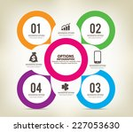 colorful infographics options... | Shutterstock .eps vector #227053630