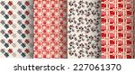 christmas gift patterns | Shutterstock .eps vector #227061370
