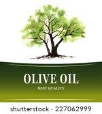 hand drawn olive tree...
