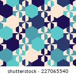 seamless vector geometric ... | Shutterstock .eps vector #227065540