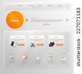 website template  glass...   Shutterstock .eps vector #227071183