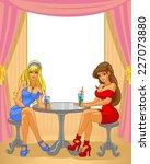 girlfriend drink | Shutterstock .eps vector #227073880