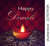 greetings happy diwali. | Shutterstock .eps vector #227074534
