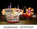 Food Stand At A Carnival At...