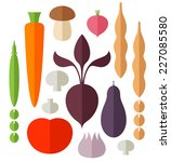 vegetable. icon set. abstract... | Shutterstock .eps vector #227085580