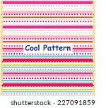 knitted background | Shutterstock .eps vector #227091859